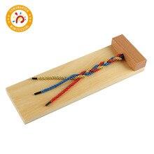 モンテッソーリ材料子供のおもちゃ木製玩具編組ボード早期教育