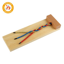 Montessori Materials Kids Toys Wooden Toy Braiding Board Early Education