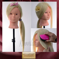 NEW Makeup Practice Mannequin Head 90 REAL HAIR 24 Hairdressing Training