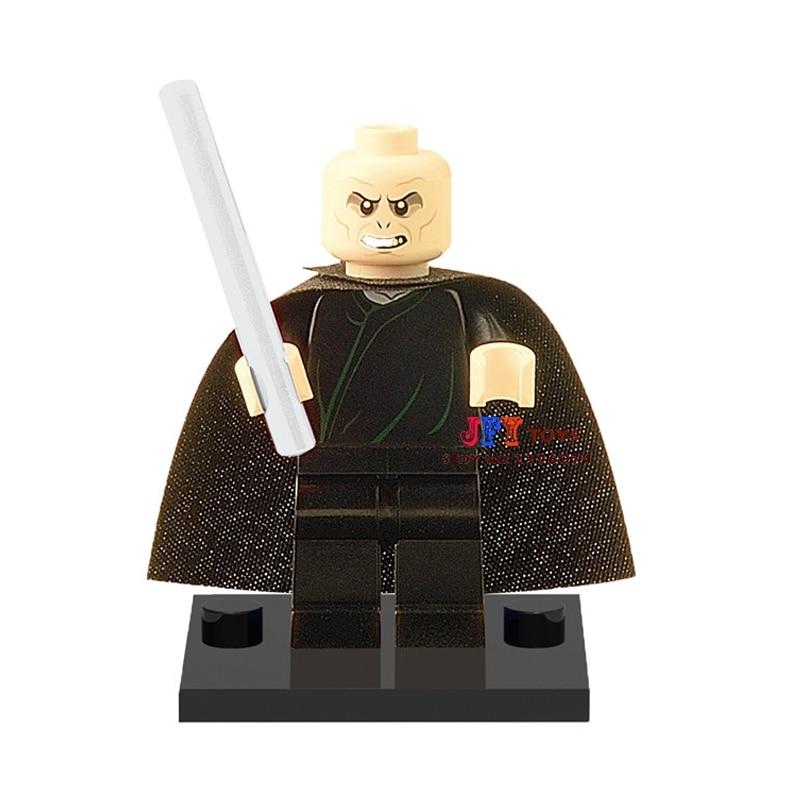 Single Sale star wars superhero Harry Potter Lord Voldemort building blocks model bricks toys for children brinquedos menino