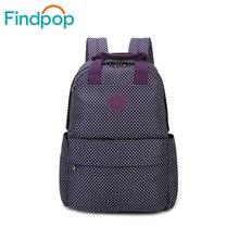Findpop печати рюкзак 2017, женская обувь новый большой Ёмкость школьные сумки для подростка элегантный дизайн винтажная парусиновая ноутбук рюкзаки