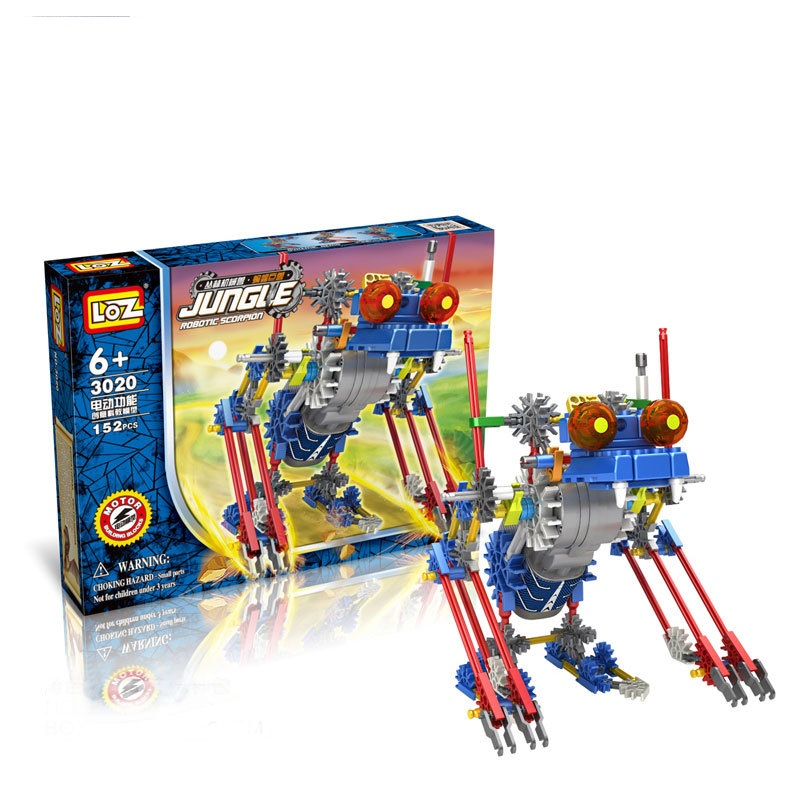 LOZ Creative DIY Crawling Electric Motor Robots Building Blocks Sets Bricks Kids Mobile Toys For Children Creator