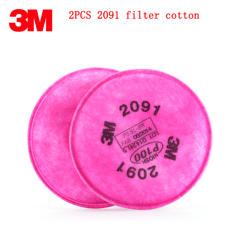 3M 2091 Filter High Quality P100 Respirator Mask Filter Applicable 3M 6000/7000 Series Mask Against Particulates Soot Filter