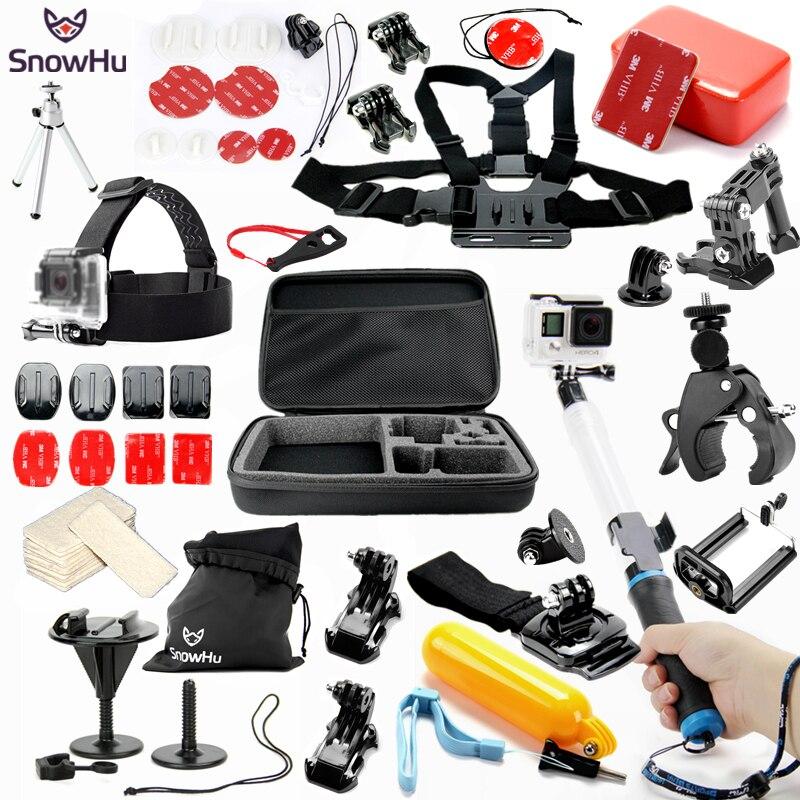 SnowHu pour Gopro hero 5 accessoires Set rallonge flottante pour Gopro hero 7 6 5 5 S 4 pour xiaomi yi SJcam caméra d'action GS55