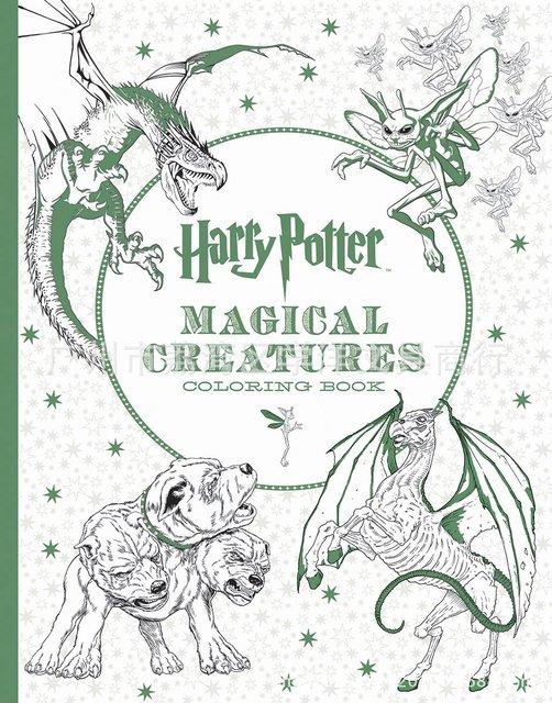 96 páginas Harry Potter libro para colorear para adultos jardín ...