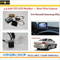 "Car Reverse Rear Camera + 4.3"" TFT LCD Monitor = 2 in 1 Parking System - For Renault Samsung SM3"