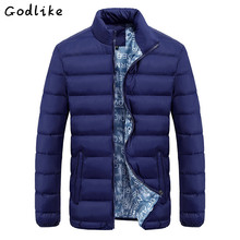 GODLIKE 2017 New Jacket Men Quality Autumn Winter Warm Outwear Coat Casual Design Solid Male Windbreak Solid color parkas M-5XL