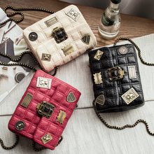 2016 new Europea and America fashion handbags shoulder bag Messenger bag small fragrant wind Quilted mini small square chain bag