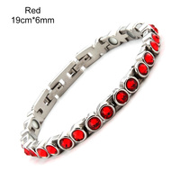 Free shipping 316L Stainless steel Energy Bracelet banlace Health Germanium Stone women's health healing bangles Fasion Jewelry