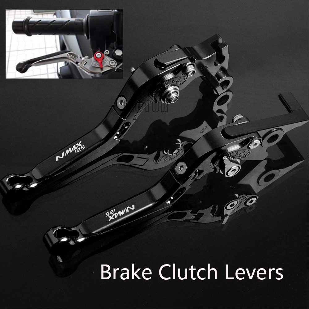 Motorcycle CNC Brake Clutch Levers For Yamaha NMAX125 NMAX 125 2015 2016 2017 Brake Clutch Levers Adjustable Folding Extendent motorcycle scooter accessories cnc aluminum alloy adjustable folding extendable brake clutch levers for yamaha bws x 125
