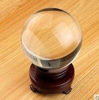 150 мм Хрустальный шар + подставка из натурального стекла, шар для интерьера, прозрачная фэншуй, сфера для украшения дома, подарок для друзей