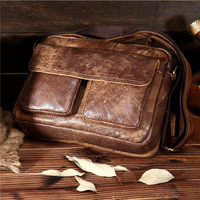 Ruil Top Quality Genuine Leather Men Retro Crossbody Shoulder Bags Hot Sale Fashion Male Small Travel