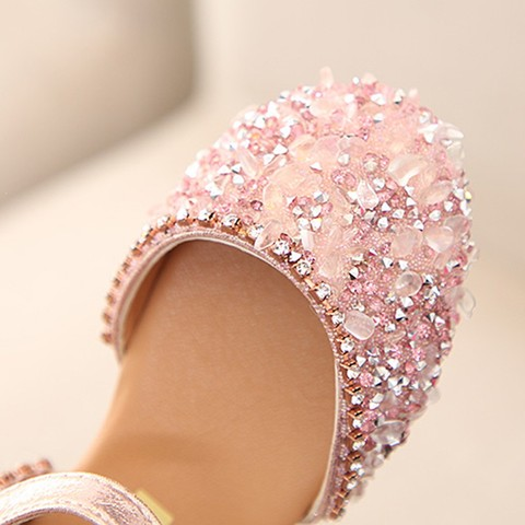 Sandals for Girls Summer Children Kids Baby Girls Bowknot Crystal Princess Sandals wedding shoes #TX4 Lahore