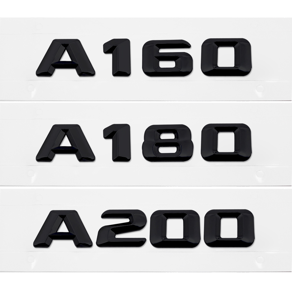 Car Stlying Rear Trunk Sticker for <font><b>Mercedes</b></font> Benz A45 <font><b>A140</b></font> A160 A180 A200 A220 A250 A260 W203 W210 Tail Emblem Decal Decoration image