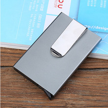 Aluminum Alloy Men Card holder Automatic pop-up Credit Holder protection Business Case Anti-theft Wallet