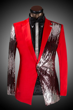 Sale Price ! Men's Blazer Men Slim Sequined Suit Bridegroom Wedding Dress Singers Costumes ! (suit+pant) M-6XL free shipping