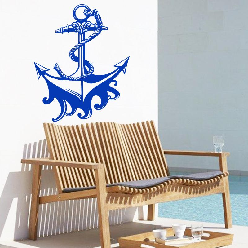 Art design cheap <font><b>home</b></font> decoration <font><b>cool</b></font> ship anchor Wall Sticker removable Cruises <font><b>decor</b></font> decal in living room shop bedroom