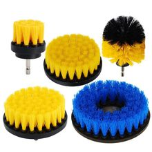 5pcs Power Scrubber Cleaning Drill Brush Kit Medium Soft PP Brushes For Bathroom Surfaces Tub Sink Shower Toilet Tile and Grou