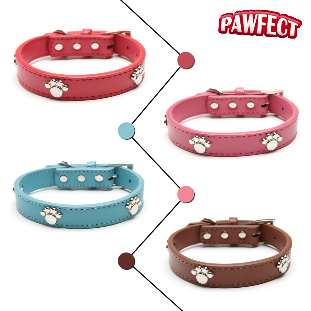 Berry Leather Dog Harness for Small Medium and Large Dogs