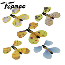 5Pcs Flying Butterfly Hand Transformation Magic Props Toy For Kids Christmas Tricky Funny Joke Seven Magic Effects Butterflies iwish 145mm halloween magic bat flying hand fly butterfly magical props surprise prank joke hallowmas kids all saints day toys