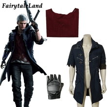 Gra DMC5 Nero przebranie na karnawał rękawiczki Halloween cosplaying Hunter Nero pełny kostium na zamówienie Nero strój płaszcz kurtka