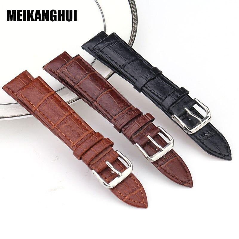 10ed70b9adf Пояса из натуральной кожи часы Бретели для нижнего белья для Для мужчин и  Для женщин Мода Ремешки для наручных часов ремень Аксессуары для ч.