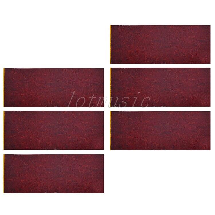 6pcs 18*46cm Adhesive Acoustic Pickguard Material Scratch Plate Soft acoustic guitar pickguard scratch plate sheet blank material with adhesive back clear parts replacement 29 5cm x 18cm x 0 25mm