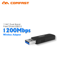 COMFAST Wireless Wi Fi Adapter Mini PC WiFi Adapter 600mbps USB WiFi Antenna 2 4GHz 5GHz