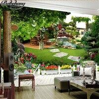 Beibehang Custom Wallpapers 3d Large Three Dimensional Murals After Garden Landscape Garden Landscape Background Wall Paper