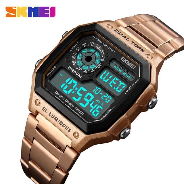 2018 SKMEI hommes sport montres étanche hommes montres Top marque de luxe mâle électronique numérique montre hommes horloge Relogio Masculino