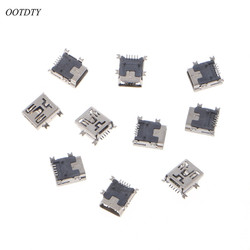 OOTDTY 10 Pcs MINI USB Type B 5 Pin Female Socket Connector For Mobile Phone Charging