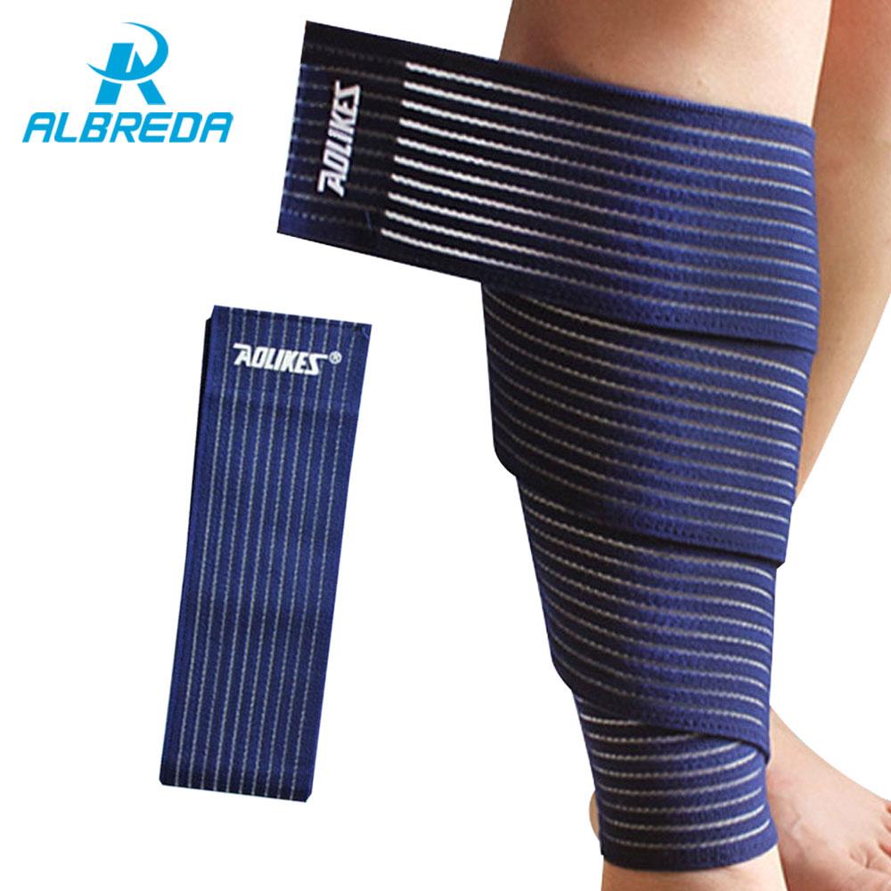 ALBREDA 90*7.5cm elastic bandage tape sport knee support strap knee pad kinesiology protector for joelheira ankle leg wrist wrap