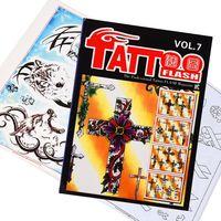Татуировки книга маленький рисунок Тату Flash журнал татуировки рукописи Эскиз тела татуировки книги flash A4 Размер