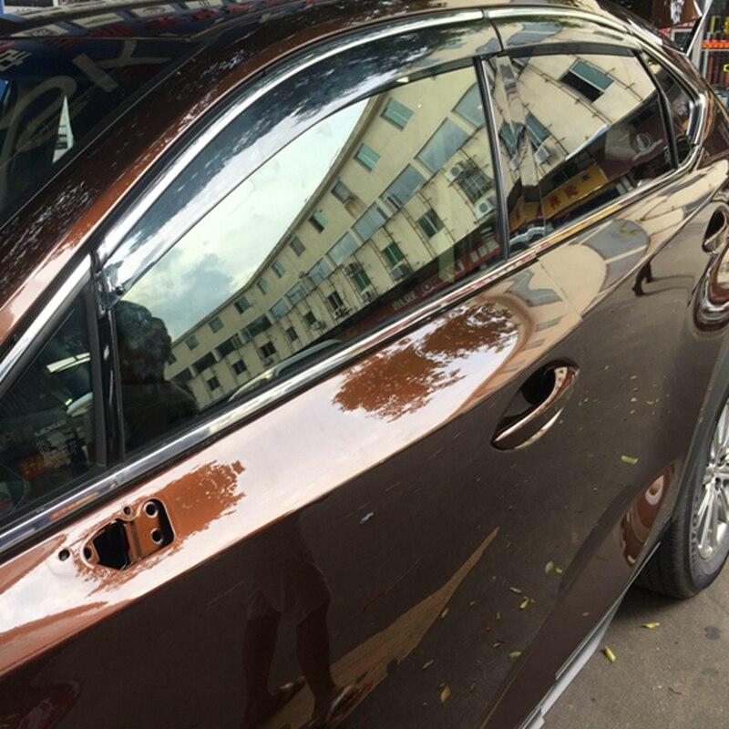 For Lexus NX NX200 NX200T NX300H 2015 2016 2017 ABS Plastic Window Visor Awnings Vent Sun Rain Guard Shield Delflector Covers chromed abs plastic factory style 4pcs side door molding trim for lexus nx200t nx300h 2015 2016