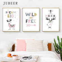 Cute Cartoon Children Room Decor Drawing Pink Girl Room Canvas Painting Wall Art Poster and Print Nordic Style