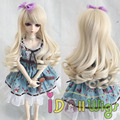 Top Quality High Temperature Fiber Beige Jerry Curly BJD Doll Wig 1/3 1/4 1/6 for Choice
