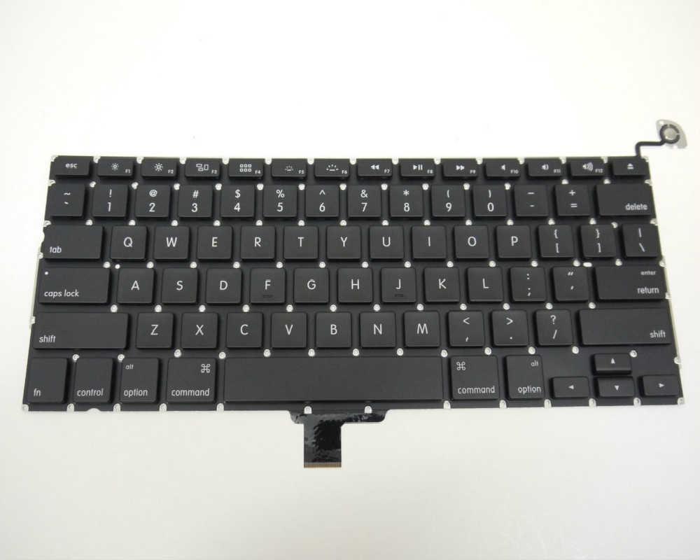 New US Keyboard untuk MacBook Pro A1278 13 ''Unibody Keyboard US Layout Tanpa Lampu Latar 2009-2012