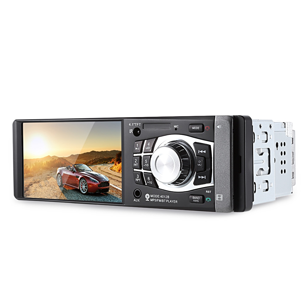 4012b 4.1 дюймов 1 дин радио авто аудио стерео FM с Bluetooth 2.0 поддержка заднего вида камера USB на руль дистанционное управление