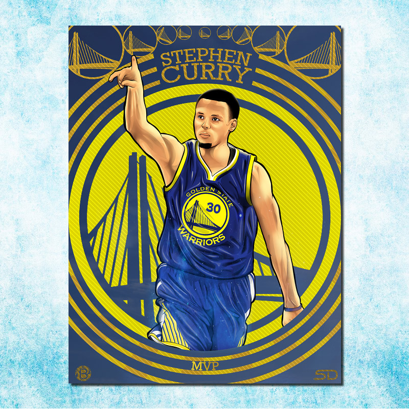 Stephen Curry No.30 Basketball Star Art Silk Canvas Poster 13x18 32x43 inches MVP Picture For Room Decor (more)-4