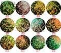 12 Colores Iridiscentes de Desplazamiento 2 MM Escala de Pescados de Escamas para DIY Del Clavo Del Brillo Del Hexágono Del Brillo Del Arte Artesanía Regalos Decoración