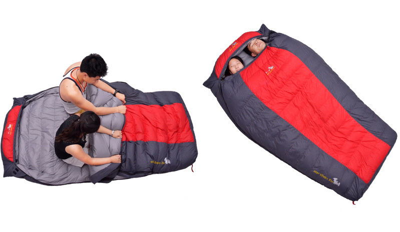 Outdoor Double Down Sleeping Bags Hiking Camping Spring And Autumn 2 Person Capacity In From Sports Entertainment On