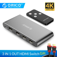 ORICO 3 Port HDMI Switch Splitter 4K 60Hz HDMI 2.0 Switcher HDMI HD Splitter for PC Laptop XBOX 360 PS3 PS4 TV STB Projector