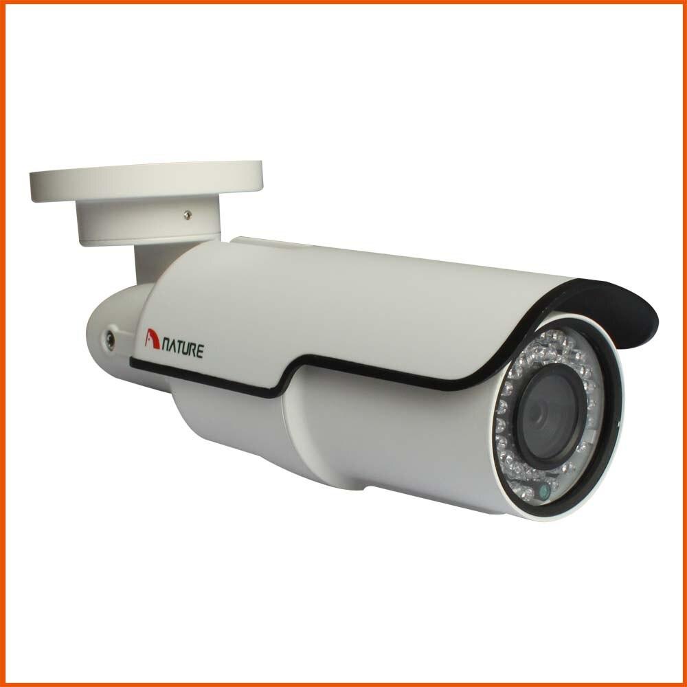 En plein air 4MP Réseau Bullet Caméra IP 2.8-12mm Surveillance CCTV Caméra Night Vision Métal POE Audio Alarme BNC Caméra de sécurité