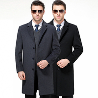 Autumn and Winter Men's Fashion Classic Style Quality Brand Trench Coat Men Luxury Temperament Coat Free Shipping Manteau Homme