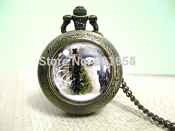 Uk TV Movie doctor who 12pcs/lot Necklace Video Pocket Watches ...