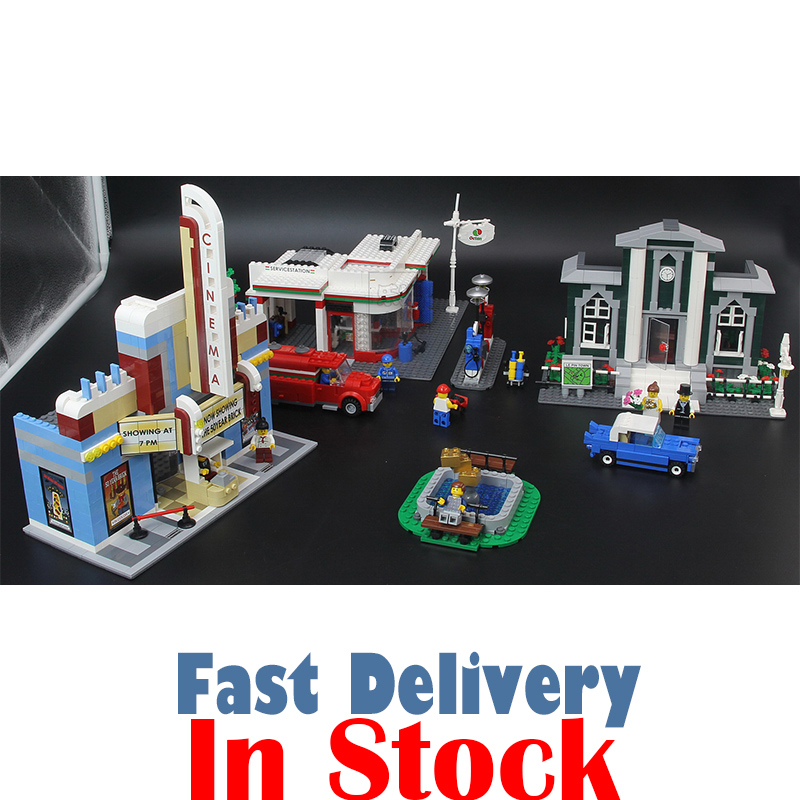 Lepin 02022 1080pcs City 50th Anniversary Town model Building Blocks Bricks educational Toys for children Gifts compatible 10184