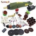 Estilo Mini Broca Elétrica + Moagem Dremel Acessórios Set kit de Ferramentas de Máquina Multifunções Gravura Elétrica