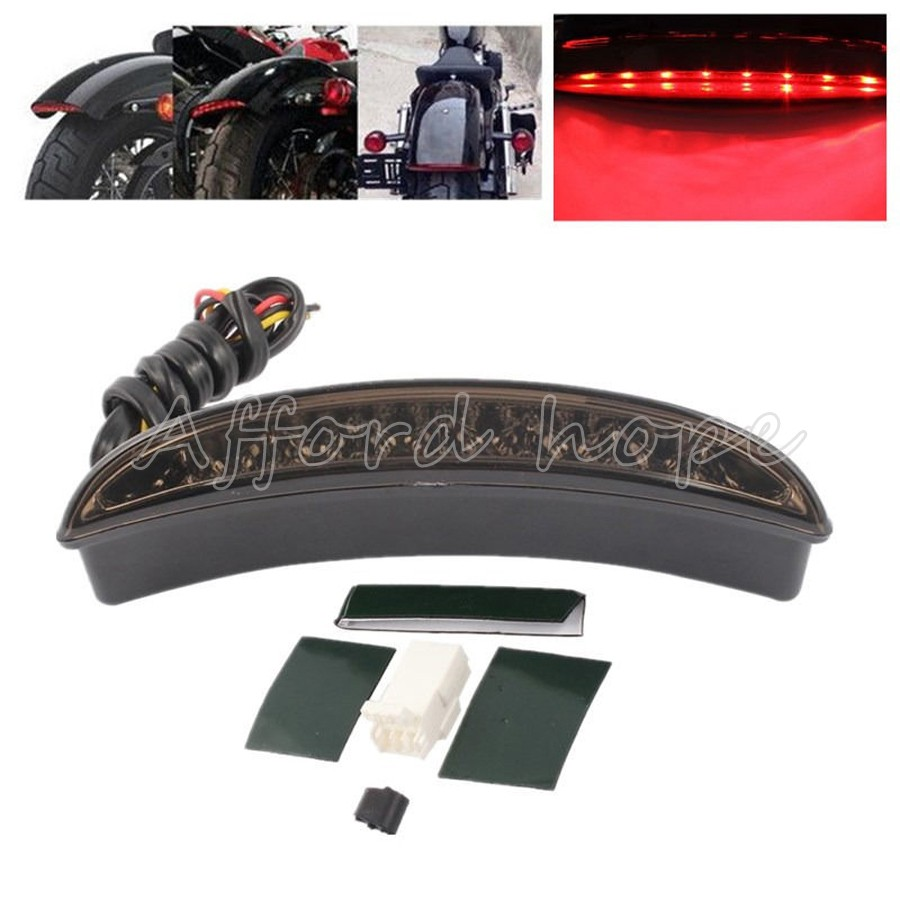 Car Stickers Back To Search Resultsautomobiles & Motorcycles Well-Educated Motorcycle Smoke Lens Rear Fender Edge Led Tail Light Warning Stop Red Light Fits For Harley Iron 883 Xl883n Xl1200n Chopped