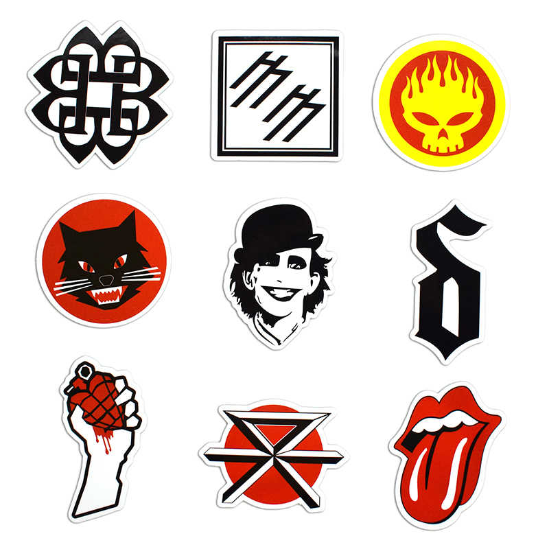 50 Pcs Rock & Roll Stickers for Laptop Luggage Bicycle Car Styling Skateboard Motorcycle Vinyl Decal Graffiti Punk Cool Stickers