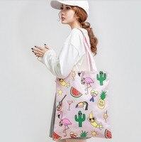 Flug katze летние парусиновые Для женщин Пляжная сумка Цвет печати леди Обувь для девочек Сумки сумка Повседневное Bolsa Хозяйственные сумки
